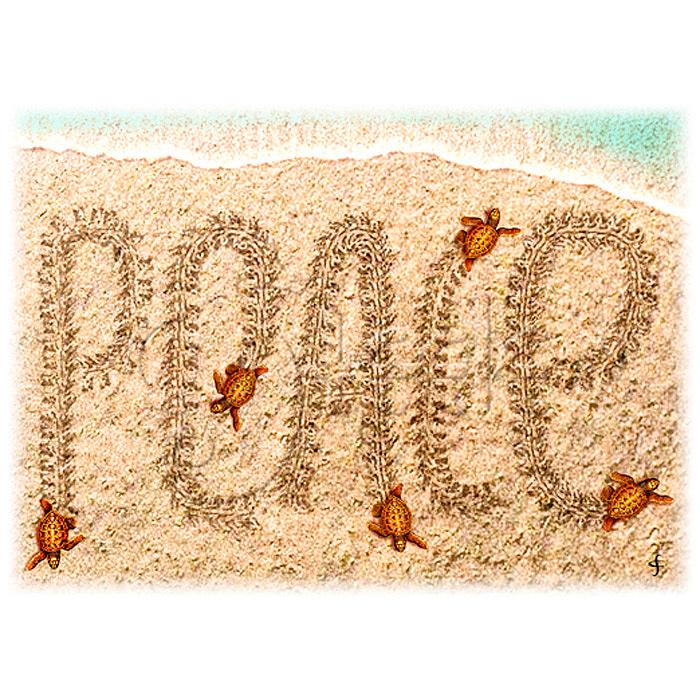Peace Turtles by Carolyn Steele