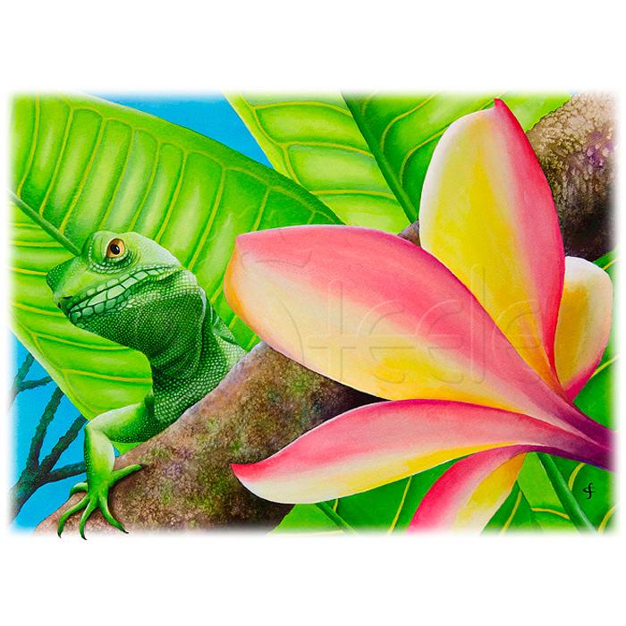 Peekaboo Lizard by Carolyn Steele